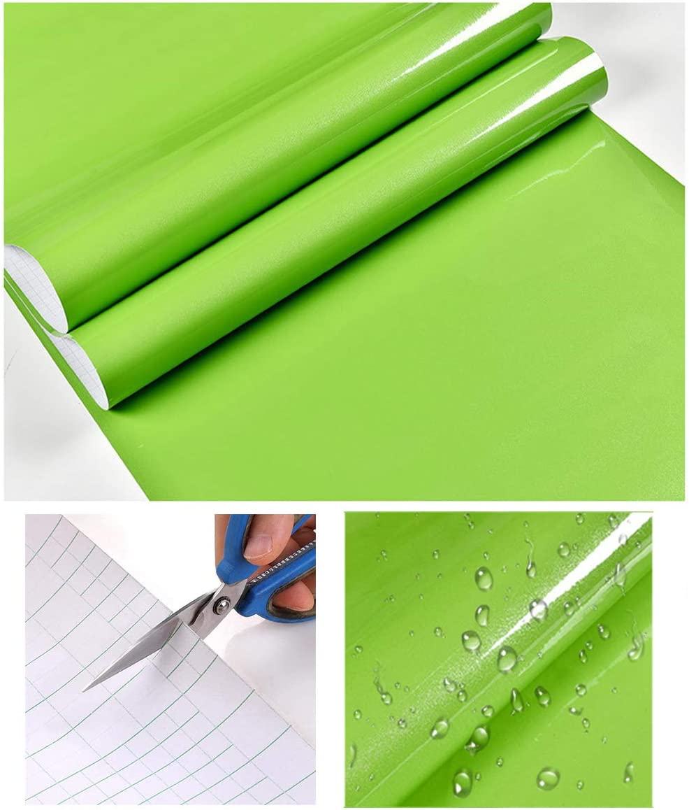 Hode Papel Adhesivo para Muebles Vinilos Adhesivo para Muebles Puertas Ventanas Pegatina de Vinilo Adhesivo Muebles 60X500cm (Verde Oscuro): Amazon.es: Hogar