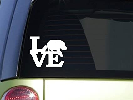 Hippo love 6 sticker f169 decal zoo keeper africa dessert hippopotamus