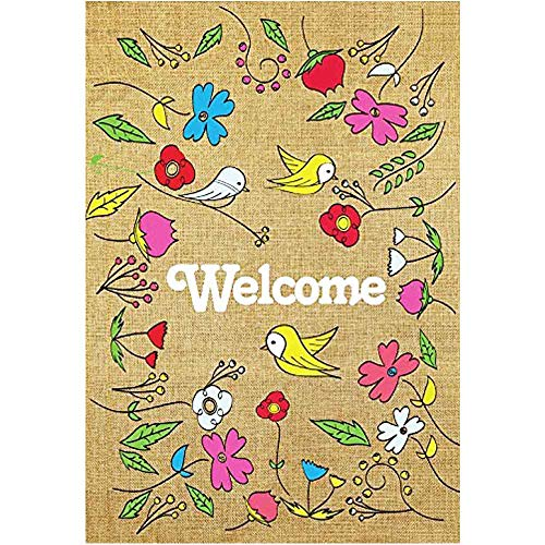 s & Flower Garden Flag - Vertical Double Sided Spring Decorative Rustic/Farm House Small Decor Flags Set for Indoor & Outdoor Decoration, 12 X 18 Inch ()