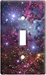 Fox Fur Nebula - Galaxy Stars Space Universe - Plastic Wall Decor Toggle Light Switch Plate Cover