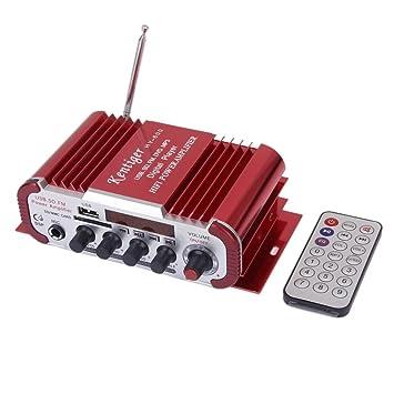 Amplificador De Microfono Dc12v Para Usb Sd / Formato Mp3 / Fm Lhy600 Roja