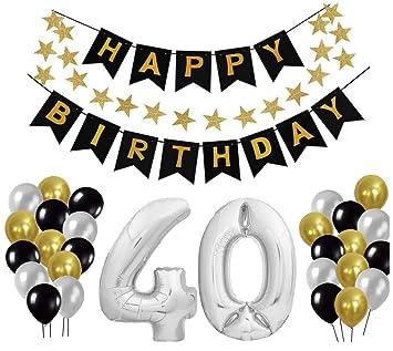 40 Geburtstag Dekoration Set Deko Geburtstag Geburtstagsdeko