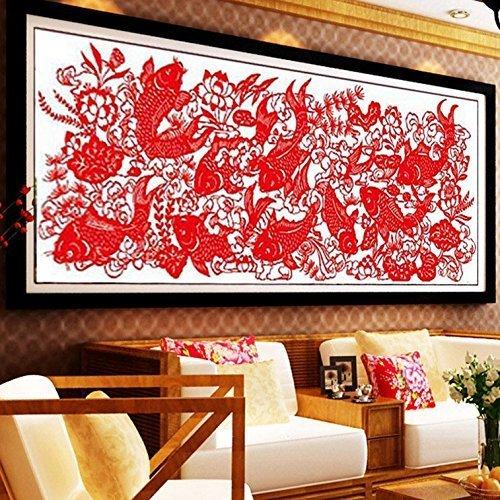 (Cross Stitch, Fish, Paper Cutting, Chinese Style, C0081)