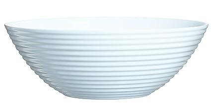 Luminarc 06453 Harena ensaladera de Cristal (27 cm), Color Blanco, 27 x