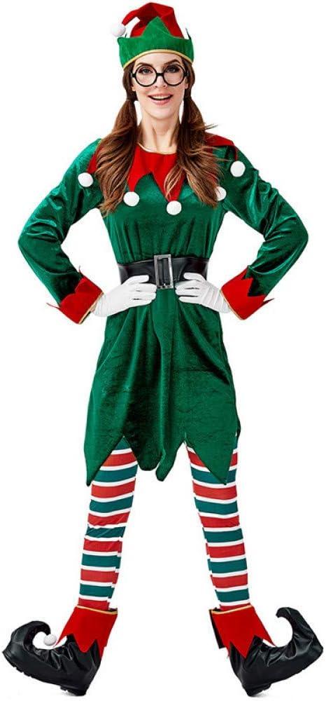 EDSDFF Green Spirit of Christmas Elves Disfraces para Mujer Y ...