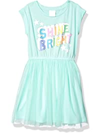 Spotted Zebra Amazon Brand Girls' Toddler & Kids Knit Short-Sleeve Tutu Dress