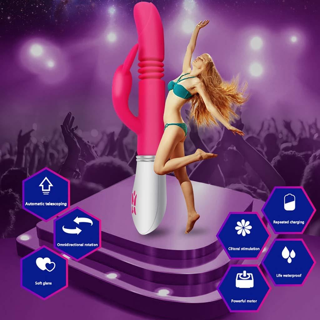 AMB-Juguete sexual Vibrador Masajeador Masturbación - Carga Vibrador USB - Vibrador Carga telescópico automático - Hembra - Productos para adultos - Rotación de 360 ??° - 3 telescópicas - 6 de vibración b5919c
