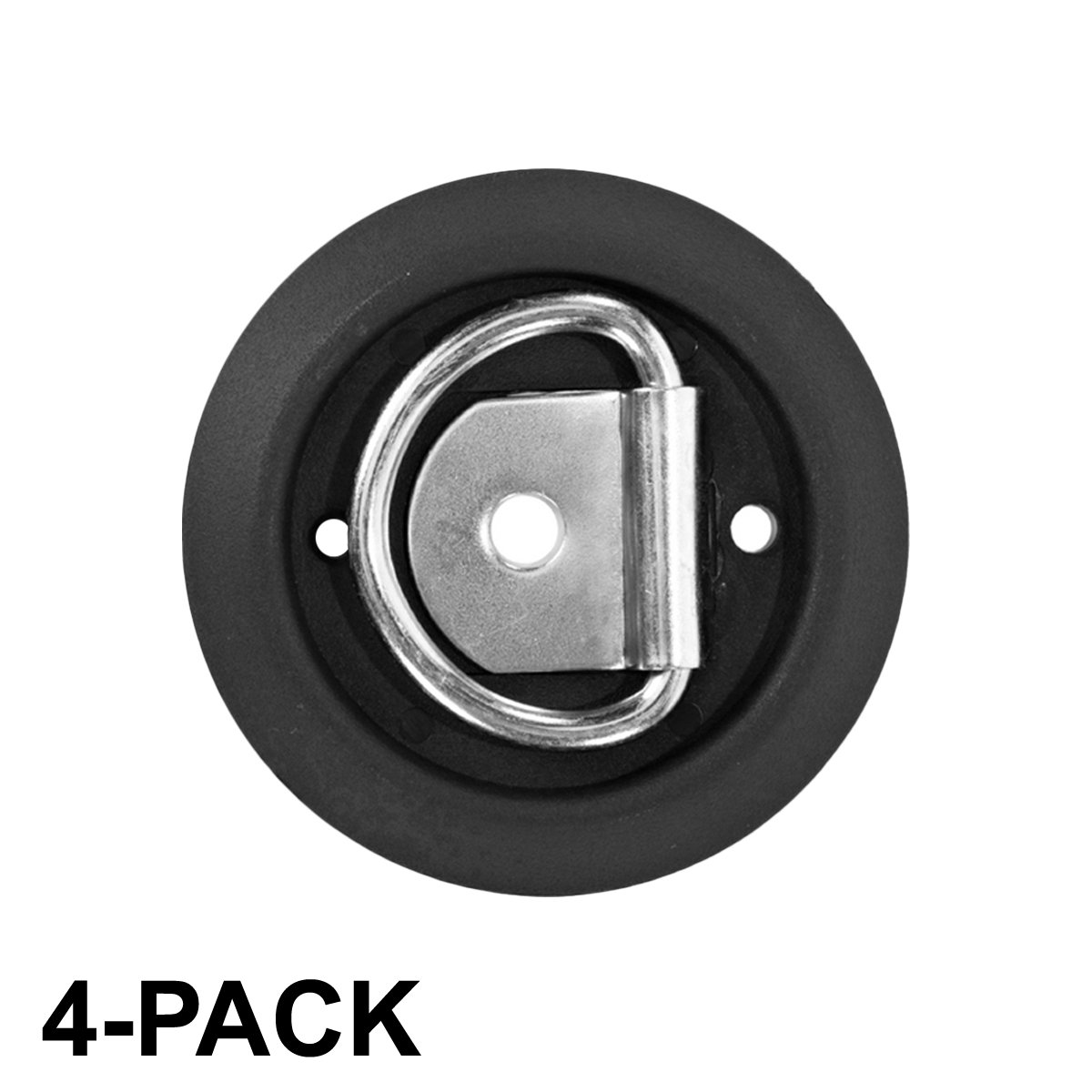 Surface Mount Anti-Rattle Tiedown Anchors 1,200 lb Capacity 1-Hole D-ring, 4-pack Sierra Pacific Engineering 44545-10-04