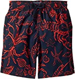Vilebrequin Kids  Baby Boy's Shellfish Swim Trunk (Toddler/Little Kids/Big Kids) Navy Swimsuit Bottoms