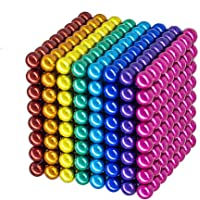 5MM 216 Pieces Building Balls STEM Brain Game Puzzle Toys Sculpture Blocks Cube Gift for Intellectual Development Office Education Fidget Toy Stress Relief Gift for Teens and Adult Silver