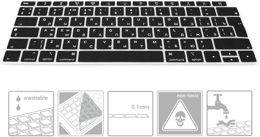 kwmobile Protector de Silicona para Teclado QWERTY (Ruso) - Compatible con Apple MacBook Air 13
