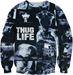 ZURIC 3D Sweatshirt Men Women Sport Hoodies Hip Hop Tupac Sweats