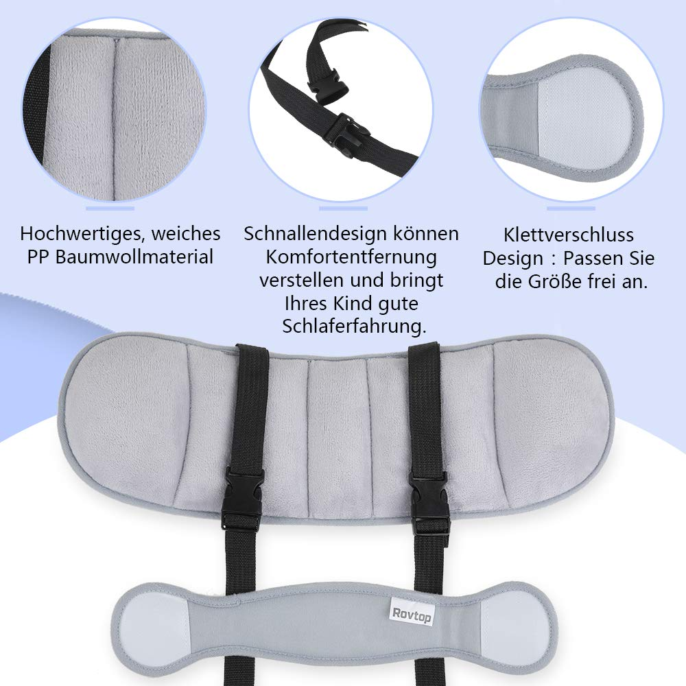 Rovtop Kopfband Kopfband Kindersitze Kindersitz Kopfband Befestigung Kopfband Verstellbarer Kopfst/ützgurt f/ür Autositz