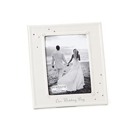 Amazon.com - DEMDACO From This Day Forward Our Wedding Day Frame, 5 ...
