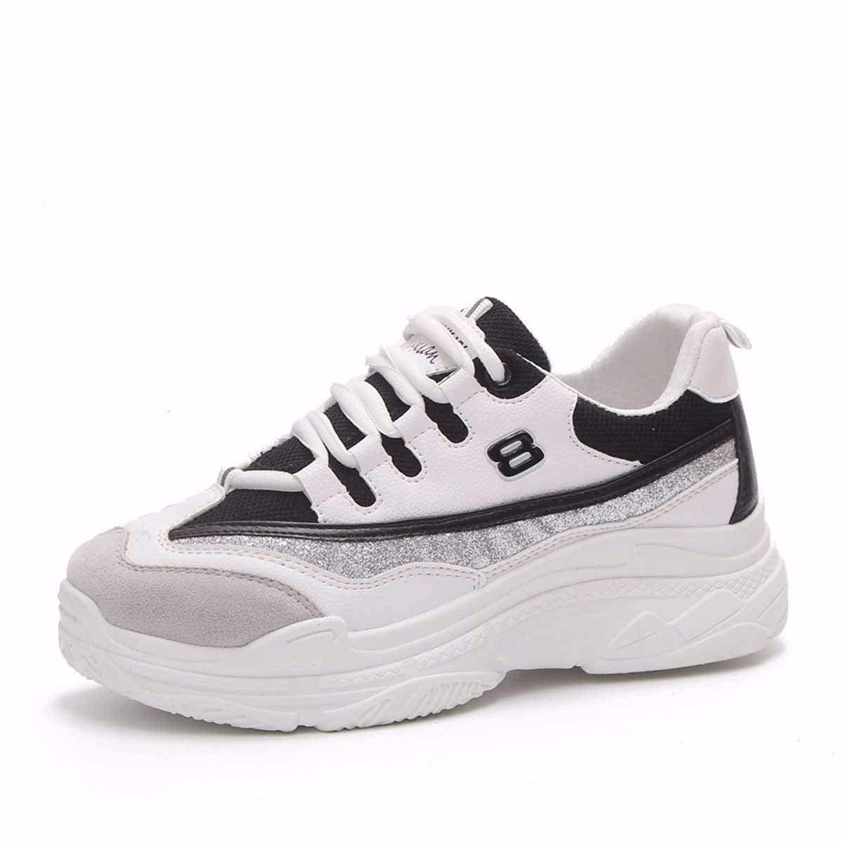 Noir KOKQSX-Les Chaussures de Sport des Femmes du Jogging Blanc Occasionnels des Chaussures de Course la lumière des Chaussures de Femme. Thirty-nine