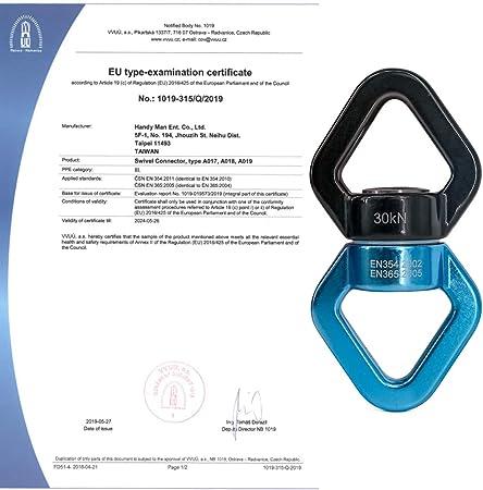 Certificado CE Arborist NewDoar Swing Giratorio Micro Rotador Dispositivo Giratorio Swing Spinner para Swing Aerial Dance Yoga Swing Hamaca Colgante Arborist