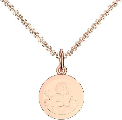 925er Sterling Silber Inkl gelbgold vergoldet Schutzengel mit Herz Kette