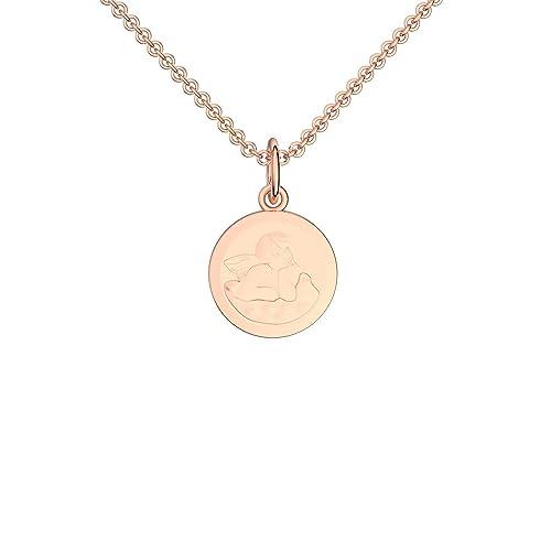 7b044bc3a41b Herzkette Rosegold vergoldet Kette Damen Halskette Rose Zirkonia Stein  Damenkette ❤ Geschenk Etui mit Gravur