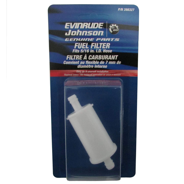 OEM Evinrude Johnson BRP Fuel Filter for 5/16'' Hose, 74 Micron - 398327