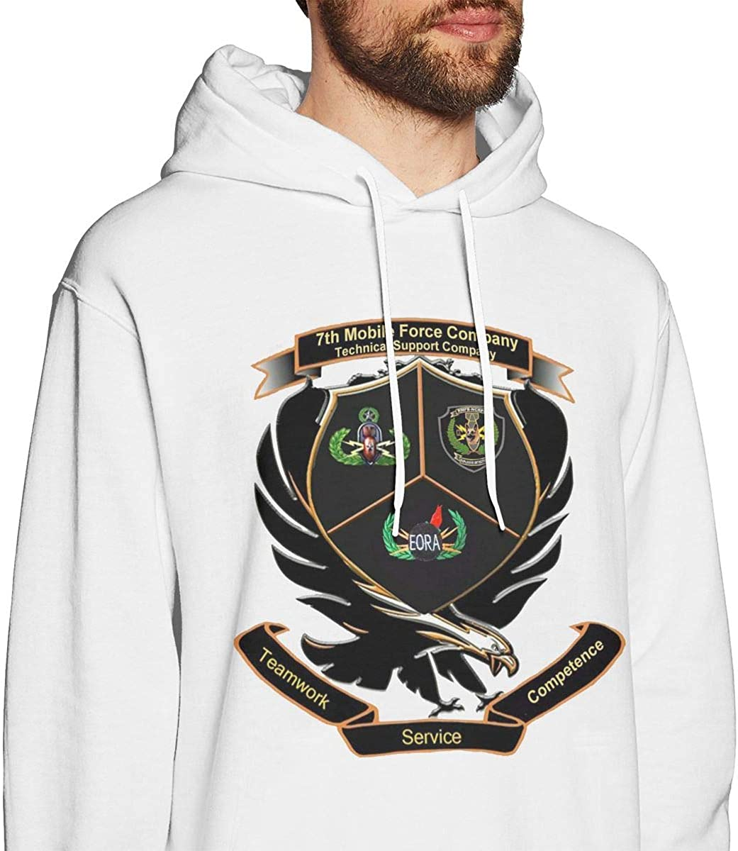 7th Mobile Force Company Mens Pullover Hooded Sweatshirt Cozy Sport Outwear