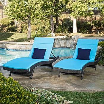 Amazon Com Olivia Outdoor Grey Wicker Adjustable Chaise