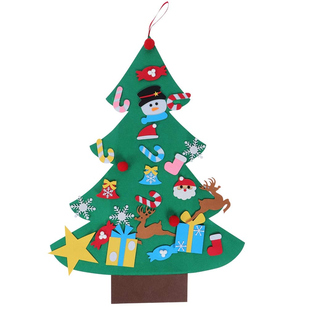 Liineparalle Large DIY Felt Christmas Tree Handcraft Ornaments Xmas Decorations New Year Door Wall Hanging Decoration(1#) by Liineparalle
