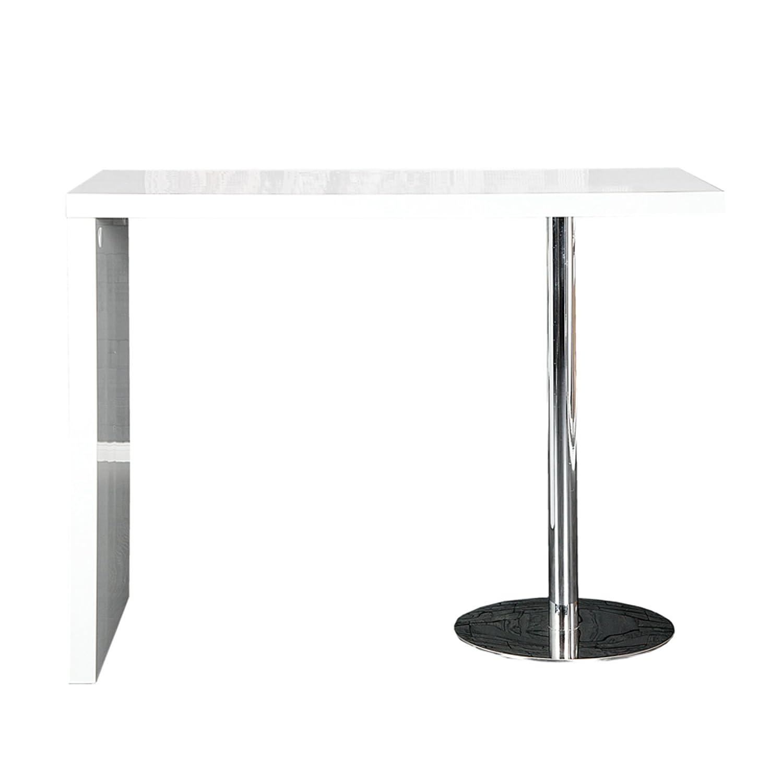 Bar-Tisch Tresen Küchentisch Weiß Hochglanz Chrom Stehtisch ...