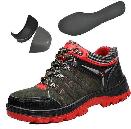 Zapatos de seguridad Dedo del pie de acero for hombre de seguridad formadores de acero del