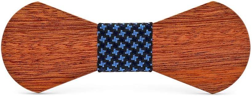Kuingbhn-AC Corbatas de Lazo para Hombre Boda Personalizada Hecha a Mano del Regalo del día de Padre de la Pajarita de Madera sólida para Trajes de Accesorios de Ropa (Color : C)
