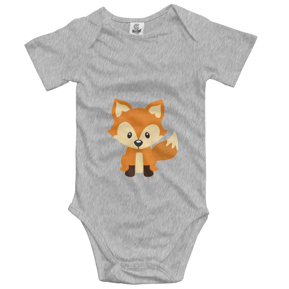Nanagang Cute Orange Fox Babys Short Sleeves Babyclothes Comfortable Gray