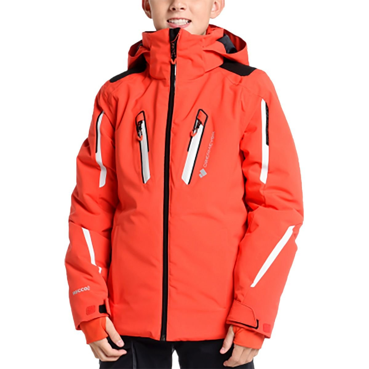 Obermeyer Kids Boy's Mach 8 Jacket (Little Kids/Big Kids) Red Medium by Obermeyer Kids