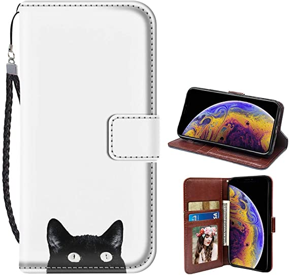 Cat leather card holder wallet