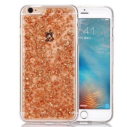 iphone-6s-case-luxury-bling-sparkle-faceplate-rose-gold-leaf-design-semi-transparent-flexible-soft-t