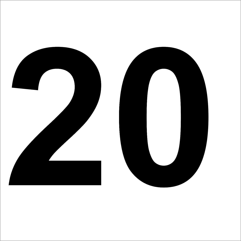ShirtInStyle Zahlen selbsklebende Aufkleber Ziffer 3-10cm Basteln Boote Haust/ür Nummern schwarz M/ülltone Kennzeichen von 2-20cm H/öhe