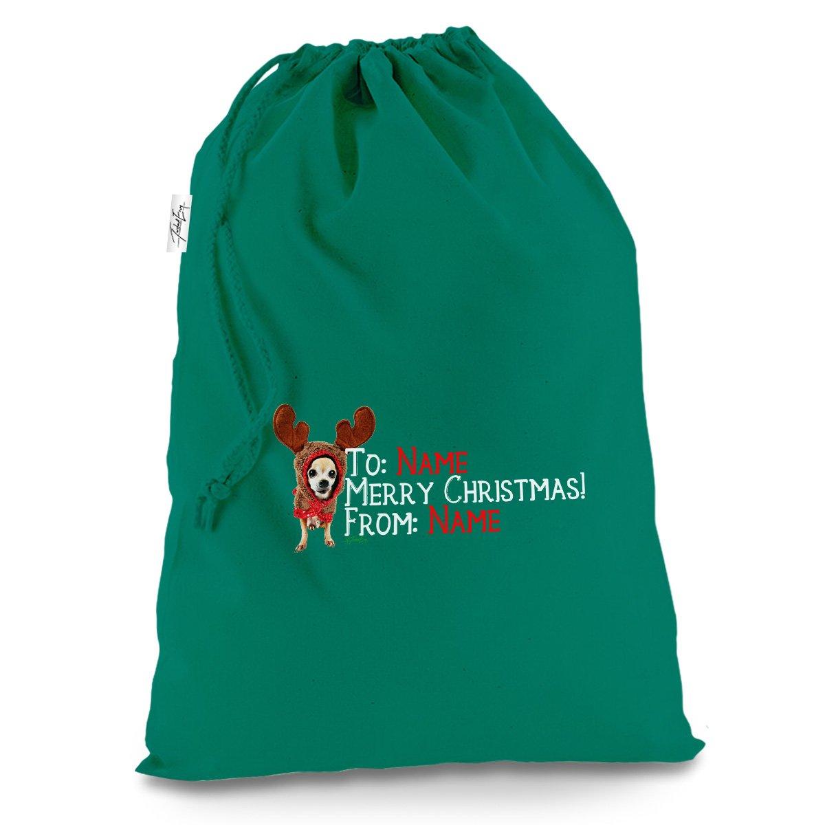Amazon.de: personalisierbar Weihnachten Chihuahua Rentier X-Large ...