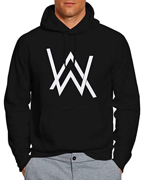 88e811299 Amazon.com: Alan Walker 5 Hoodie Pullover Unisex Sweatshirt BW: Clothing