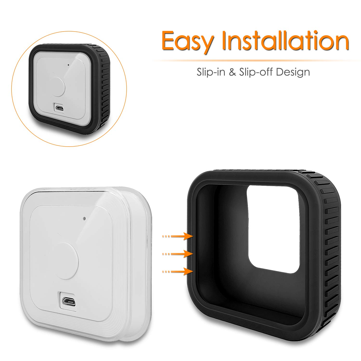 Soft Protective Skin Cover Silicone Case For Blink Indoor Home Security Camera