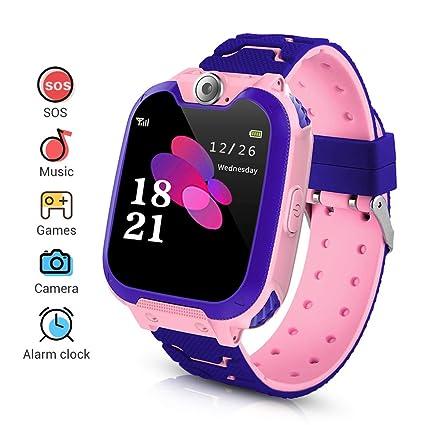 LYPULIGHT Niños Smartwatch Phone, Smart Watch Phone con Reproductor de música, SOS, Pantalla táctil LCD de 1,44 Pulgadas con cámara Digital, Juegos, ...