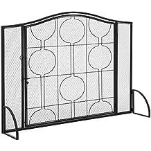 Best Choice Products Living Room Steel Fireplace Screen W/Mesh Design & Door
