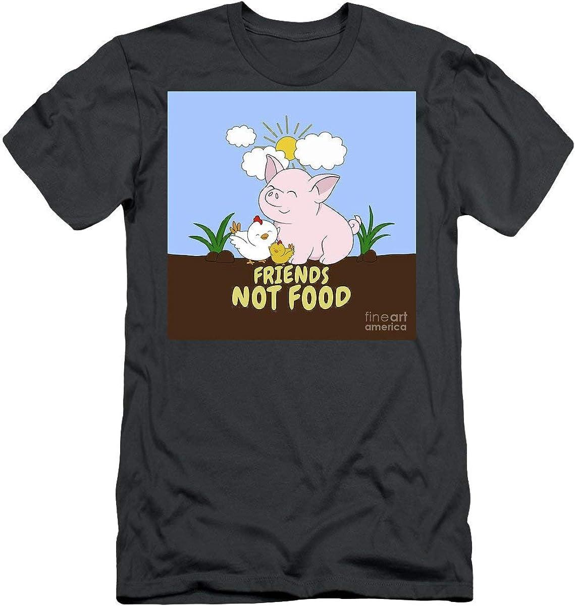 F_R_I_E_N_D_S Not Food Cute Pig and Chicken Tshirt