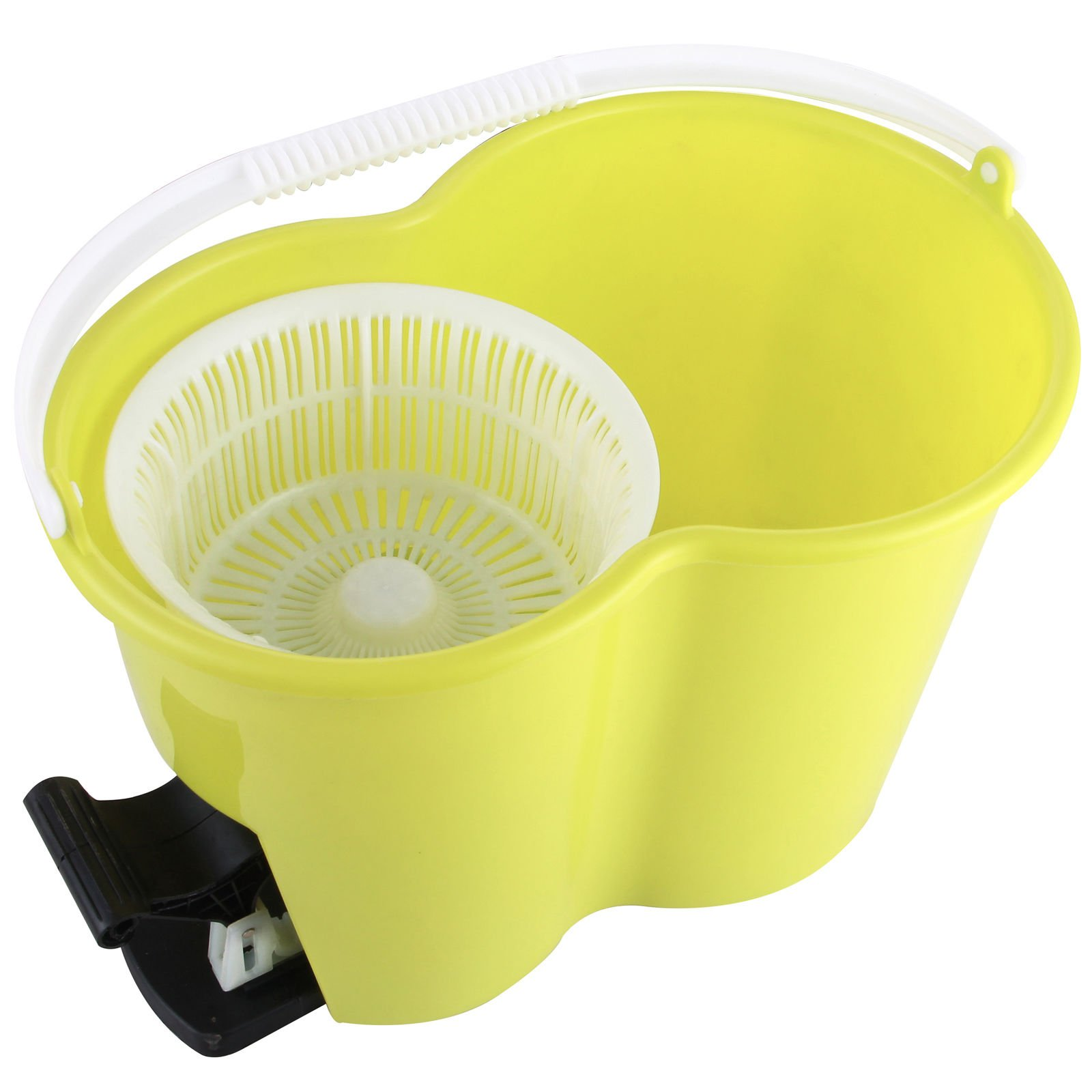 Eight24hours Magic Spin Easy Floor Mop Bucket 2 Head Green 360° Rotating + FREE E-Book by Eight24hours (Image #2)