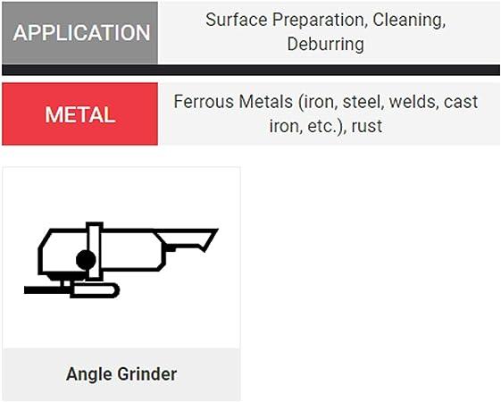 United Abrasives SAIT 06426 4 x .014 x 5//8-11 Arbor Carbon Bristle Regular Twist Knot /& Crimped Style Angle Grinder Wire Wheel