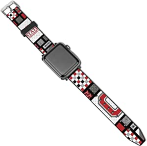 O-HIO State Watch Strap for Apple Watch Leather Durable 42mm/44mm Watch Strap Compatible with iWatch Series 5 4 3 2 1
