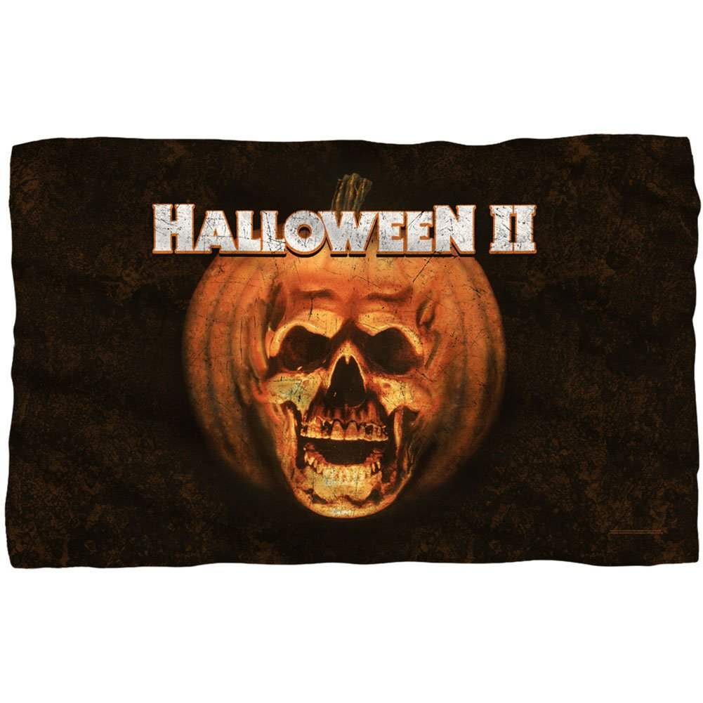 amazoncom halloween ii poster sub fleece blanket 57 x 35in home kitchen - Halloween Bath Towels