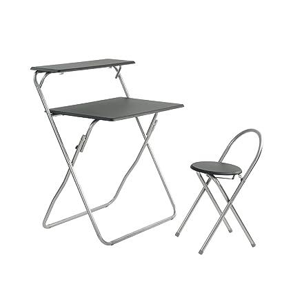 Juego de escritorio y silla plegable para ordenador para ...