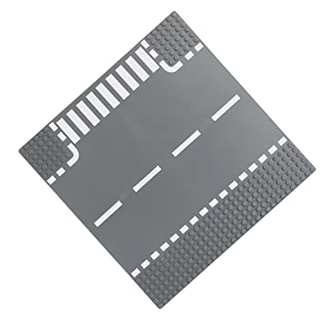 Placa de carretera recta cruce CURVA T-Unión de piezas de bloques de construcción ladrillos base