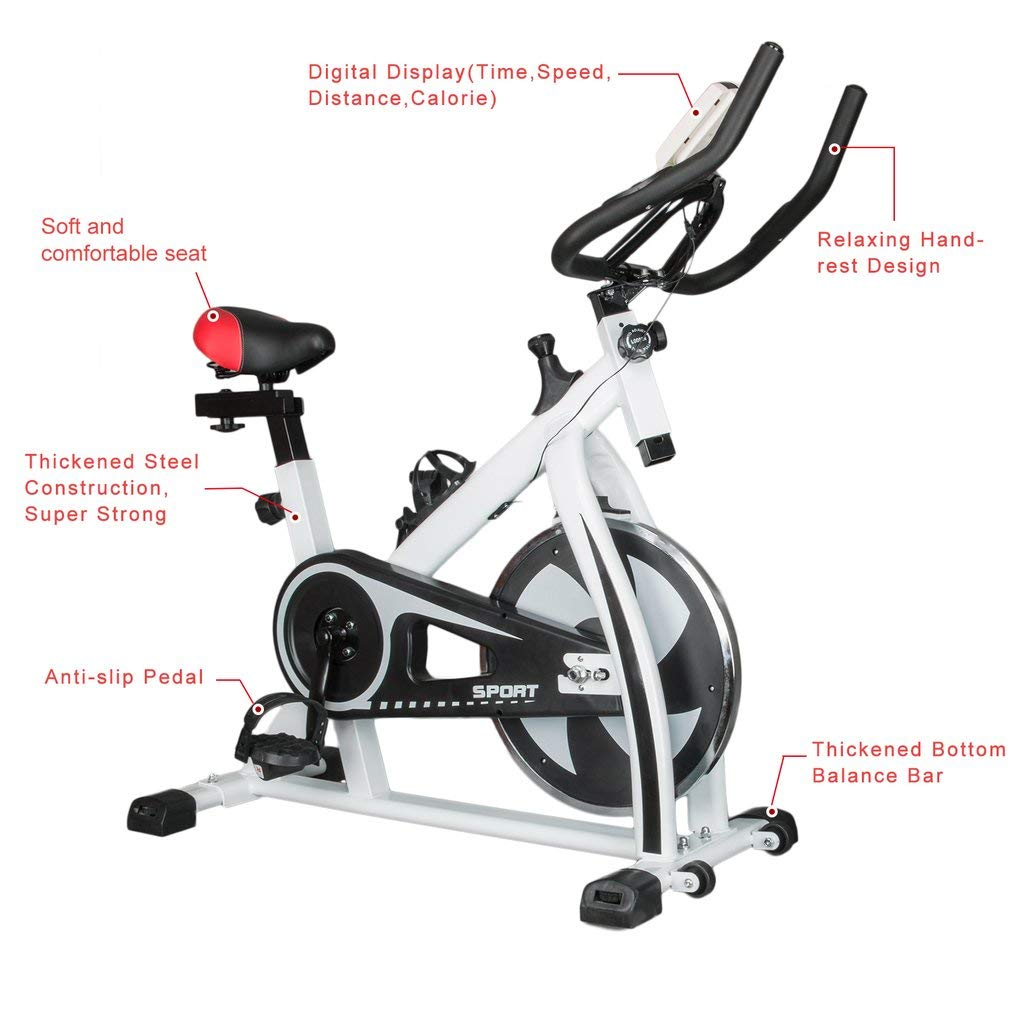 Bingogous Pro Indoor Cycling Bike, Stationary Exercise Bikes, Home Gym Bicycle Equipment with LCD Display