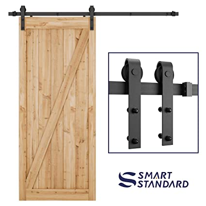 Charmant SMARTSTANDARD 6.6 Foot Heavy Duty Sliding Barn Door Hardware Kit  Smoothly  And Quietly  Easy