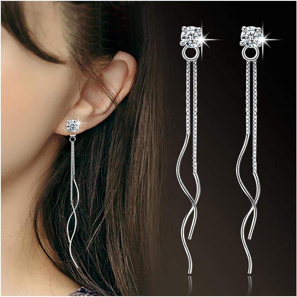 VDX Dangle Green Crystal Woman Earrings Drop Long 14K Gold Plated Tassel Cz Girl Jewelry Earrings