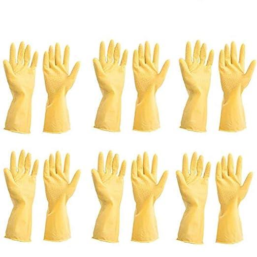 12 guantes (6 pares) irrompibles resistentes de cocina de goma de ...